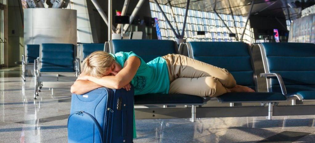 Overnachten in de terminal van het vliegveld